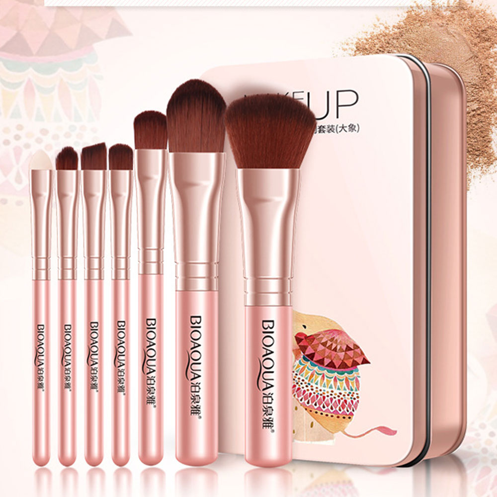Professional Makeup Brush 7 pcs Makeup Tool Sets Perfect for Foundation Powder Brush Blush Eye Brow Comestic Brush Kit in Eye Shadow Applicator from Beauty Health