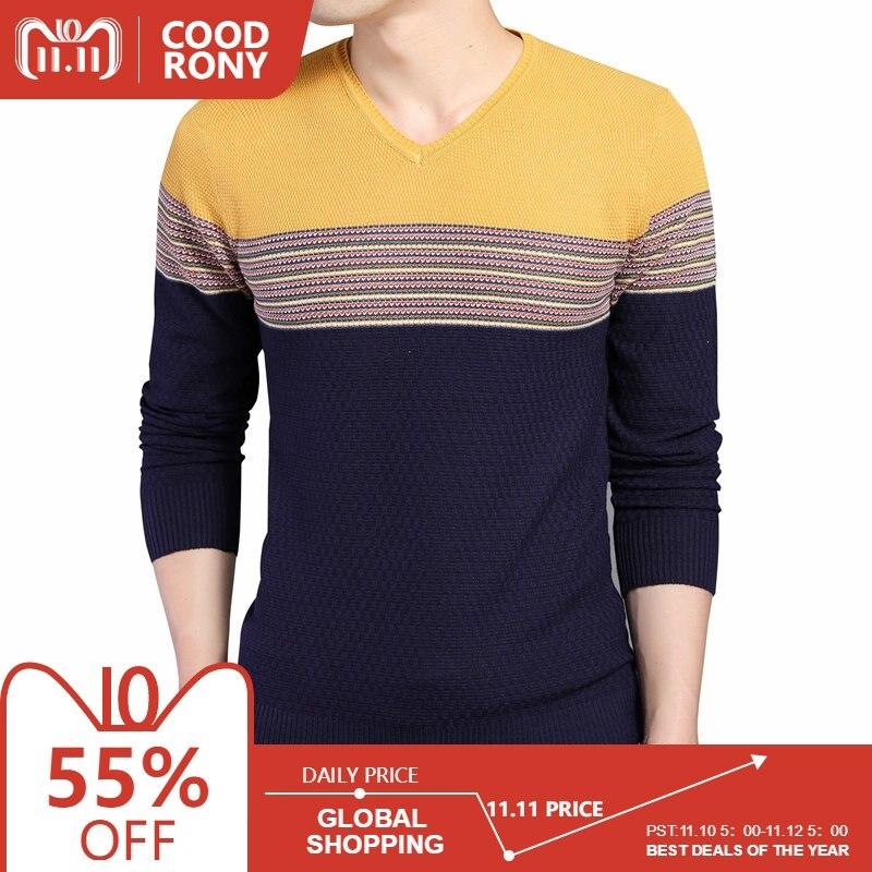 Ανδρική πλεκτή μπλούζα COODRONY 2018 – Reparo 6834d8b73ae