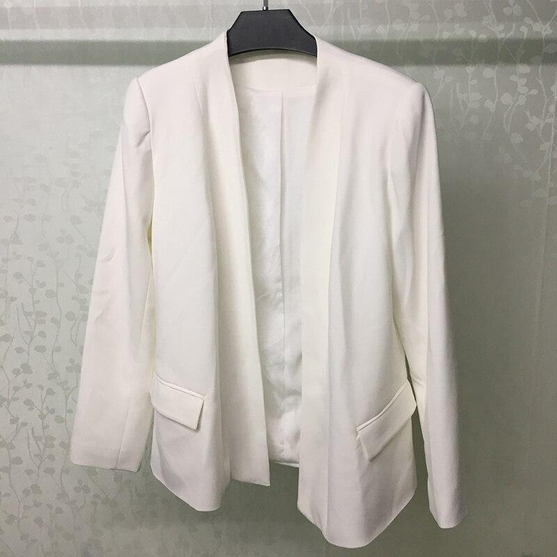 Mode Dame Épaississent Bureau Pièces Et Femmes Pantalon Veste Pour Ensemble 2 Ensembles Blanc TATqpSH
