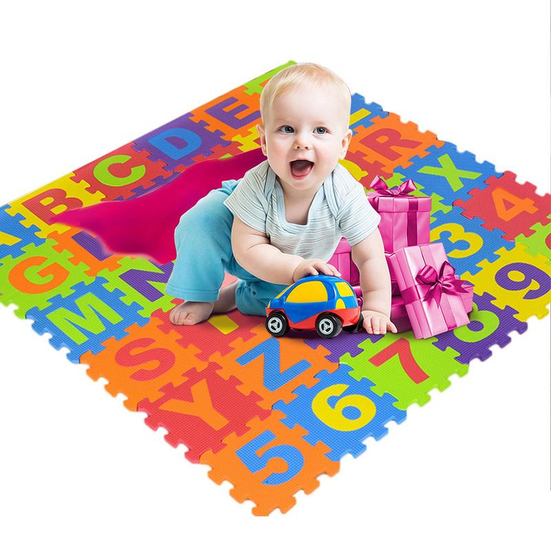 36 PCS Per Set New EVA Children's Puzzle Mat Digital Letter Educational Foam Mat Cold-proof Environmentally Friendly Baby Crawl