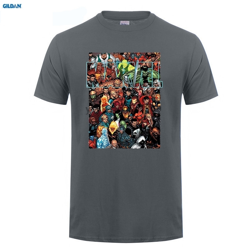 GILDAN New Comic T Shirts Men 39 s Funny Mavel Avengers Captain America T shirts Tops Printed Tees Male Camisetas Short Sleeve in T Shirts from Men 39 s Clothing