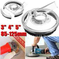 Clear Vacuum Dust Shroud Kit Dry Grinding Dust Cover for Angle Grinder 80 125mm Hand Grinder Power Tool Accessories Dust Cover