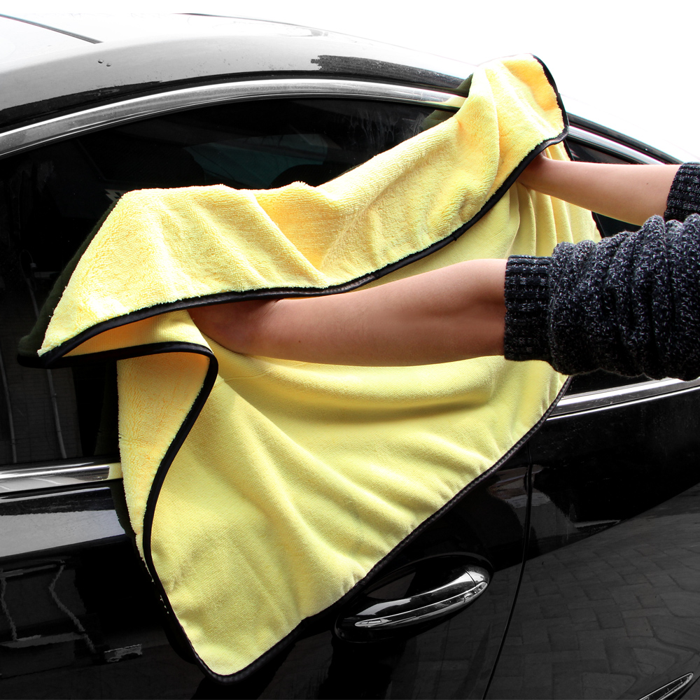 1Pc 92*56 CM Car Wash Towel Microfiber Car Cleaning Drying Cloth Hemming Car Care Cloth Detailing Car Wash Towel For Toyota
