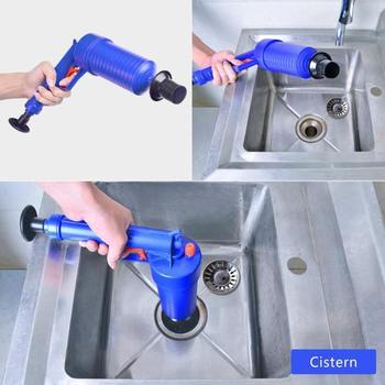 Aria Ad alta Pressione di Alimentazione di Scarico Blaster Gun Potente Manuale Lavello Stantuffo Opener Pompa Pulitore per Servizi Igienici Docce per il Bagno