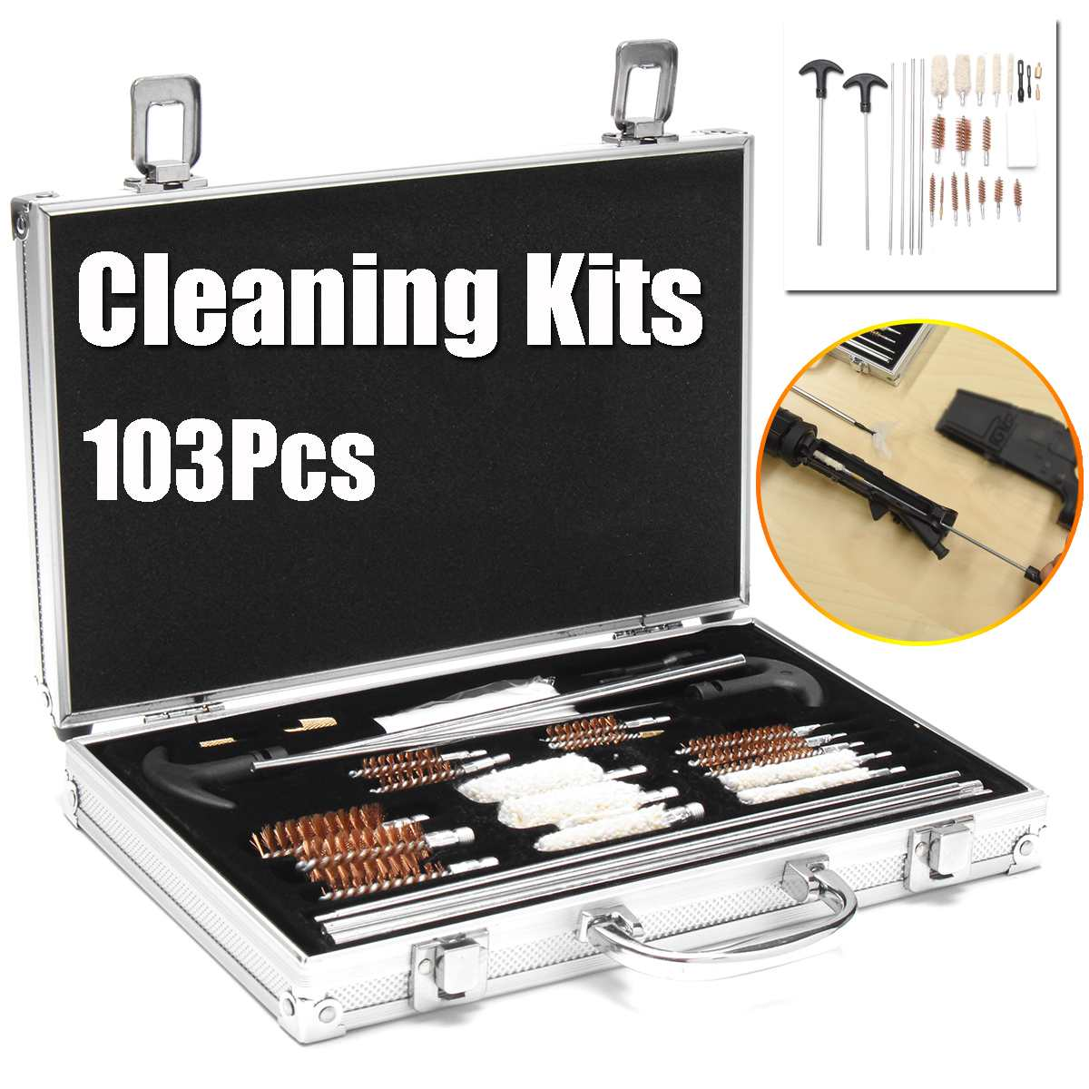 103pcs Universal Gun Cleaning Kit For Rifle Pistol Handgun Shotgun Professional Gun Cleaning Set Brush Tool