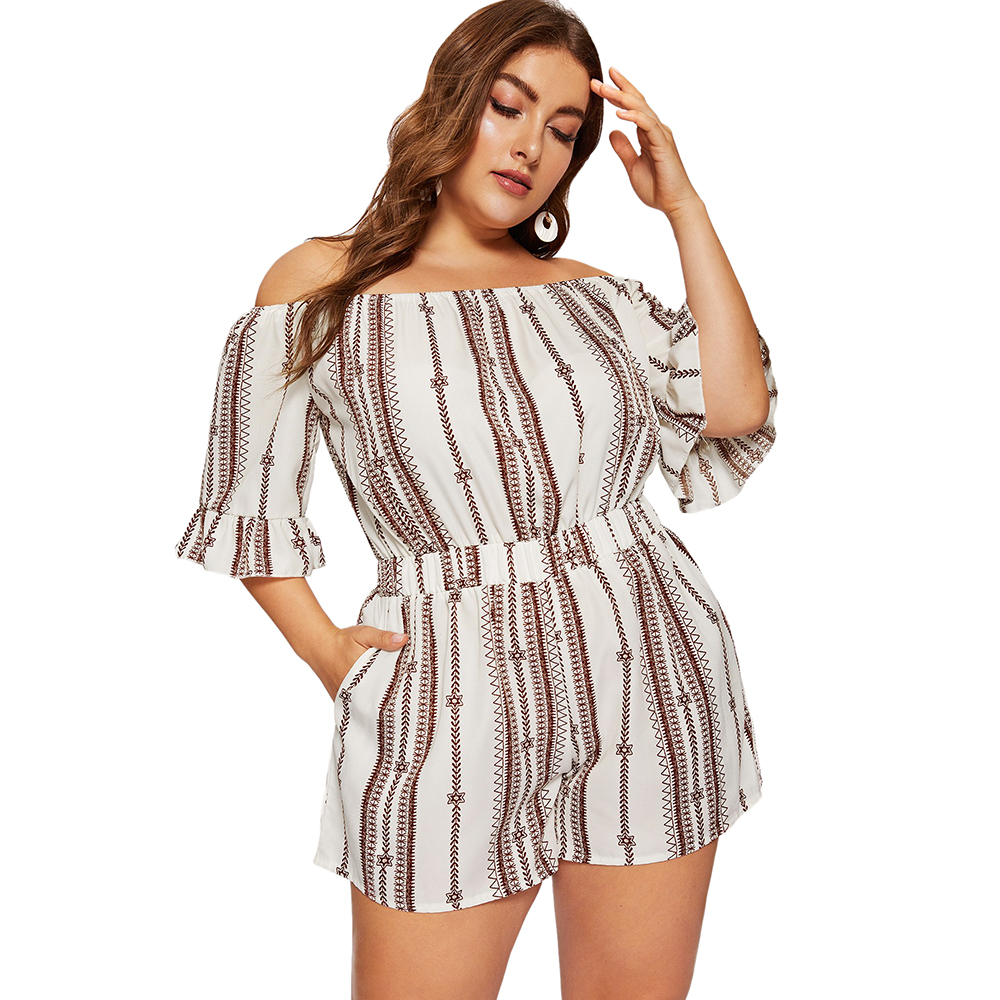 Womens Jumpsuits and Rompers Short Playsuits Plus Size Sleeveless Spaghetti Strap Lace Trim Loose Ruched with Belt