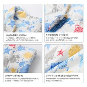 Image 3 - Childrens Fall And Winter Thickened Cotton Flannel Sleeping Bag Infant Long Sleeves Stroller Warm Cartoon Sleeping Bag
