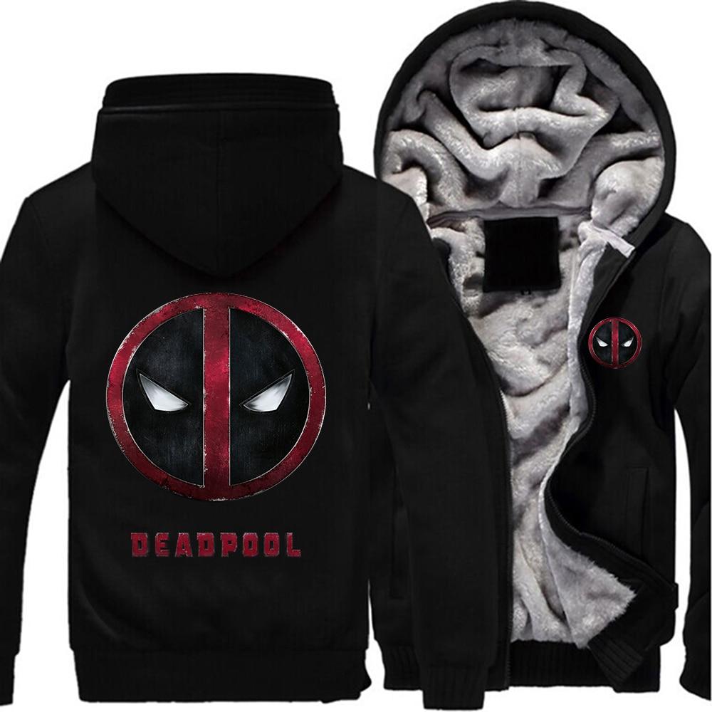 NOUS taille DEADPOOL Zipper Veste Hommes Femmes Sweat-Shirts Pull Thicken Fleece Hoodie Capuche Manteau Drop shipping