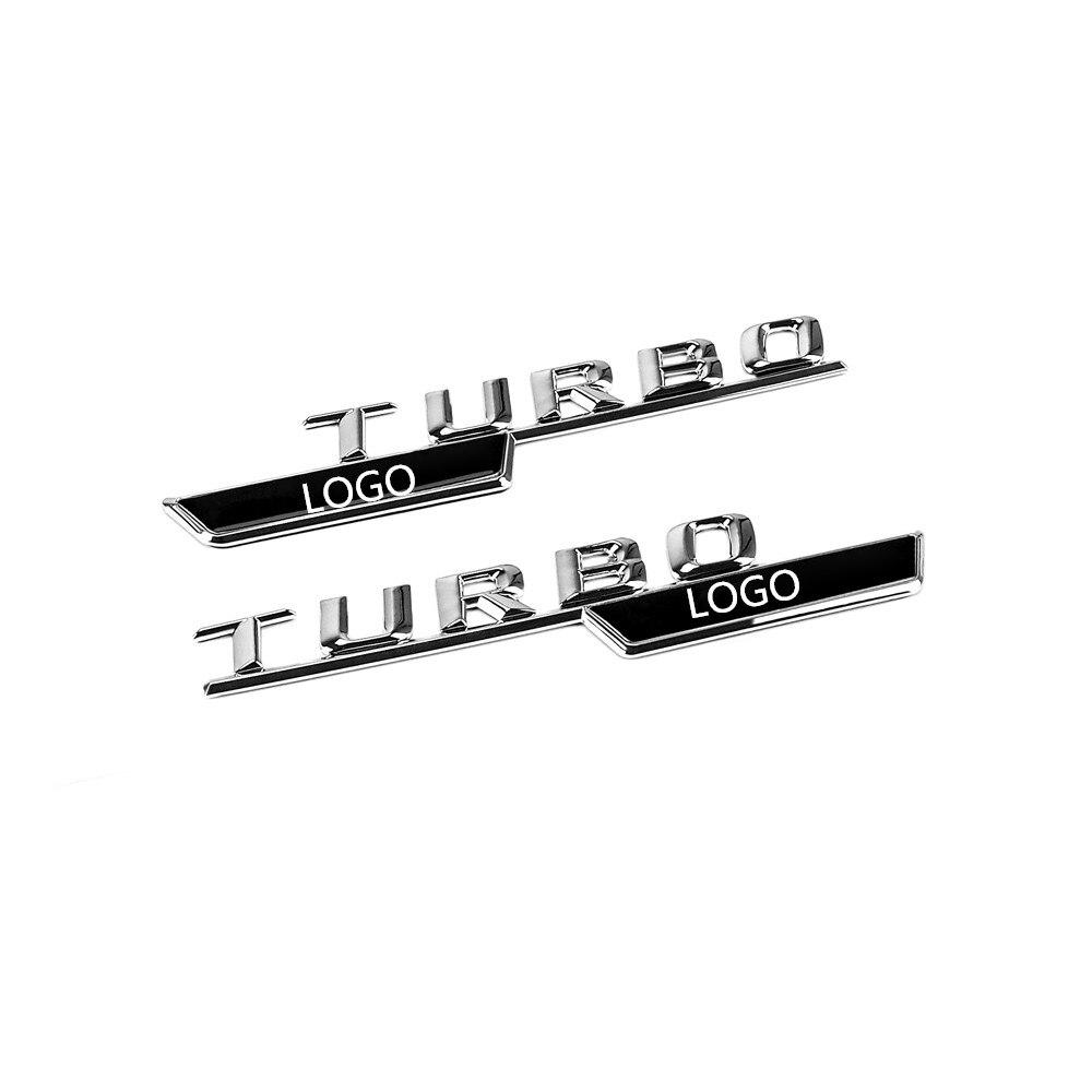 """Black /"""" TURBO //////AMG /"""" Letters Trunk Emblem Badge Sticker for Mercedes-Benz AMG"""