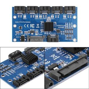 Image 5 - HOT การ์ดเมนบอร์ด SATA Expansion Card 1 ถึง 5 พอร์ต Sata3.0 6Gbps ตัวคูณพอร์ต SATA Riser CARD อะแดปเตอร์สำหรับ Comp