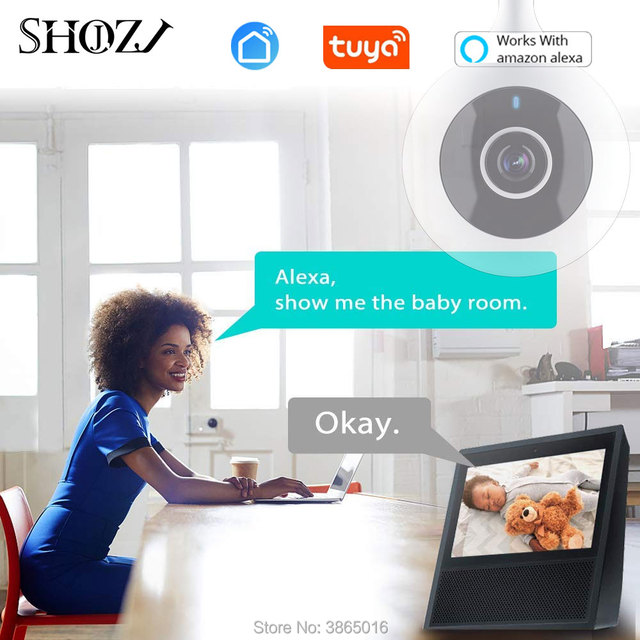 Baby Monitor wifi 2 way audio smart life app camera motion detection  Security IP Camera Wireless for Alexa Echo work