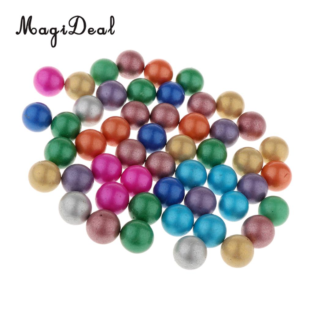 90 Pieces Of 16mm Colored Glass Marbles, Kids Traditional Ball Game Toy Vase & Fish Tank Decoration #B