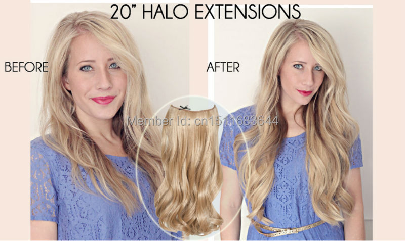 Halo Hair Extensions 12
