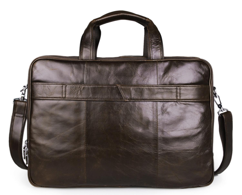 Европейская и американская деловая кожаная мужская сумка 730 40 большая сумка 17 дюймов компьютерный портфель для ноутбука чехол для документ... - 3
