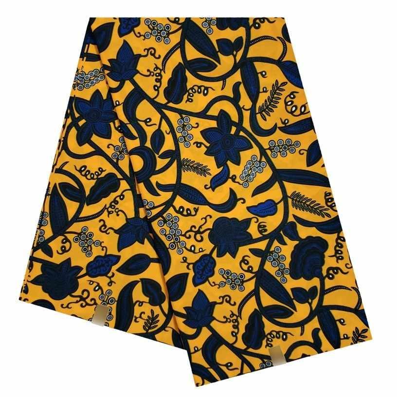 100% Tessuto di Cotone Per Cucire Tessuto Africano della Cera 6 yard/lotto Pagne 2019 New Real tissus di Alta Qualità tissuse Cera tessuto