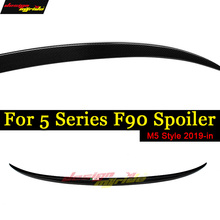 M5 F90 Spoiler Rear Trunk Wing Tail AEM5 style Carbon fiber For Black Lip Auto Car Styling 2019+