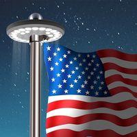 Lámpara Solar LED para jardín, 26 LED, energía Solar, poste de bandera, sensible, Control de luz, resistente al agua