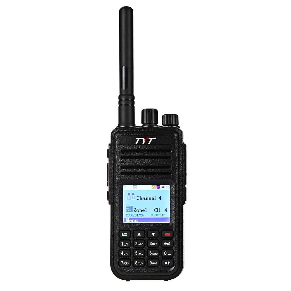 TYT MD - 380 VHF Portable Walkie Talkie Digital Transceiver Colorful LCD Display Support Up To 1000 Channels Mototrbo Tier I/II