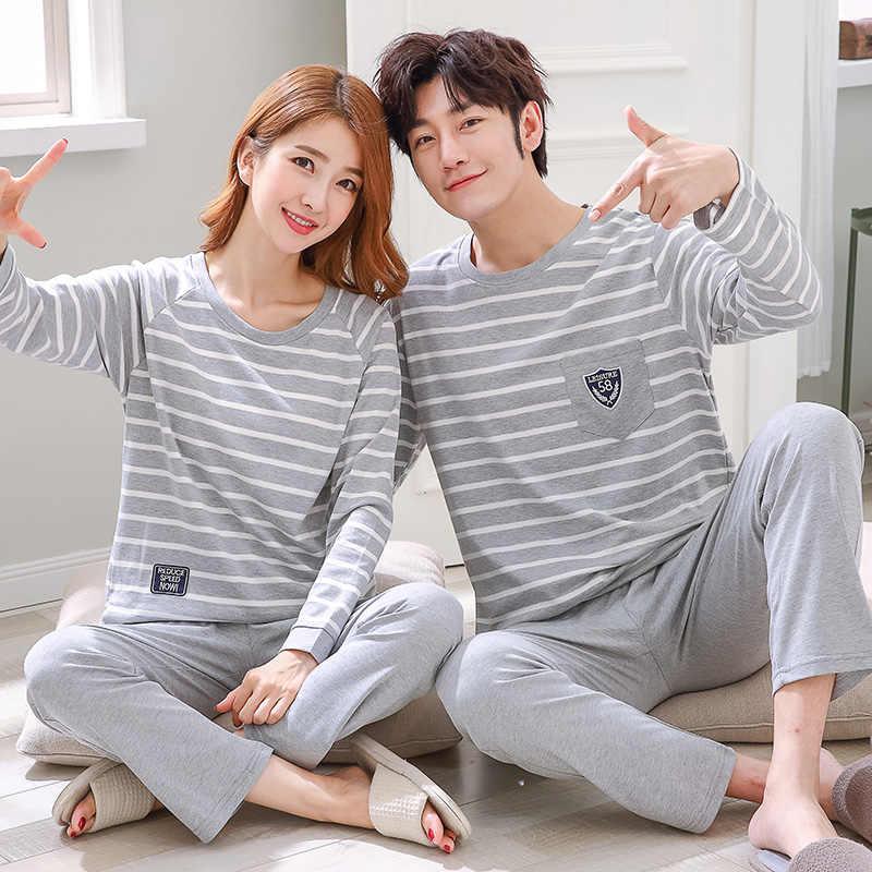 שינה הלבשת גברים ארוך שרוול זוג כותנה Pyjama מכירה 4xl O-צוואר חורף הלבשת גברים XXXL קריקטורה פיג 'מה זכר פיג' מות סטים