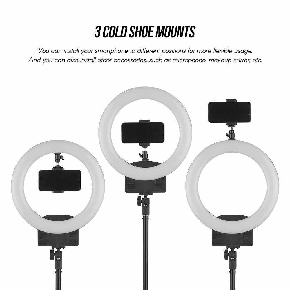 Portable 12inch 30W 3200K-5600K LED Video Ring Studio Light +1.8M Light Stand Phone Holder Carry Bag for Broadcast Selfie Makeup
