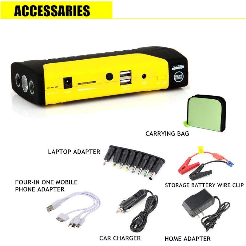 Démarreur de saut multifonction 50800 mAh 12 V 400A Portable batterie externe voiture chargeur de démarrage chargeur