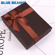 6 color new Bowknot Jewelry Box Necklaces Earrings Bracelets Boxes 9*7*3cm organizer shape Gift Packing Display Classic 1 Piece