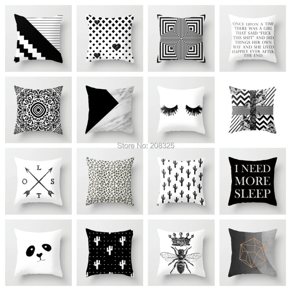 best decorative throw pillow covers black and white ideas and get