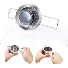 Stainless Steel Tea Filter Foldable Leak Can Residue Thoroughly Fast Delivery Silver