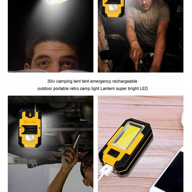 30w Camping Tent Tent Emergency Rechargeable Outdoor Portable Retro Camp Light Lantern Super Bright LED 4