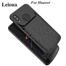 Leioua Silicone New Battery Charger Case For Huawei P20 P30 Lite Nova 3e Honor 10 8 9 Charging Back Cover External Power Bank(China)
