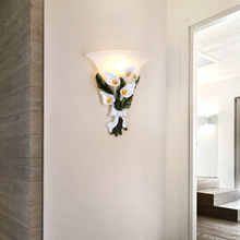 Nordic Garden LED Wall Lamp Flower Sconce Bedroom Lights Frosted Glass Interior Lamps for Kids Room