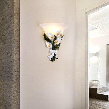 Nordic Garten Led Wand Lampe Blume Wand Leuchte Schlafzimmer Wand Leuchtet Matt Glas Innenwand Lampen Fur Kinderzimmer Lampen