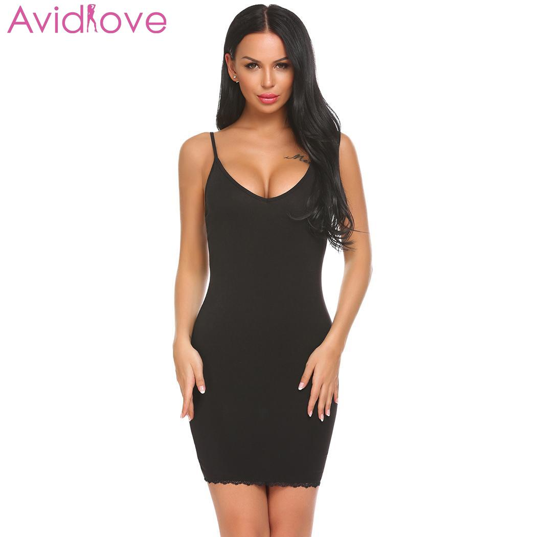 Avidlove Summer Women Sexy   Nightgown   Erotic Lingerie V-Neck Nightwear Sleepwear Female Lounge Sexy Underwear Home   Sleepshirt