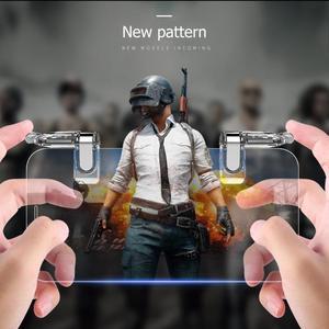 Image 4 - 2 個携帯電話ゲームグリップトリガーpubgゲームホルダー火災ボタンゲームコントローラーゲームパッドジョイスティックゲームアクセサリー