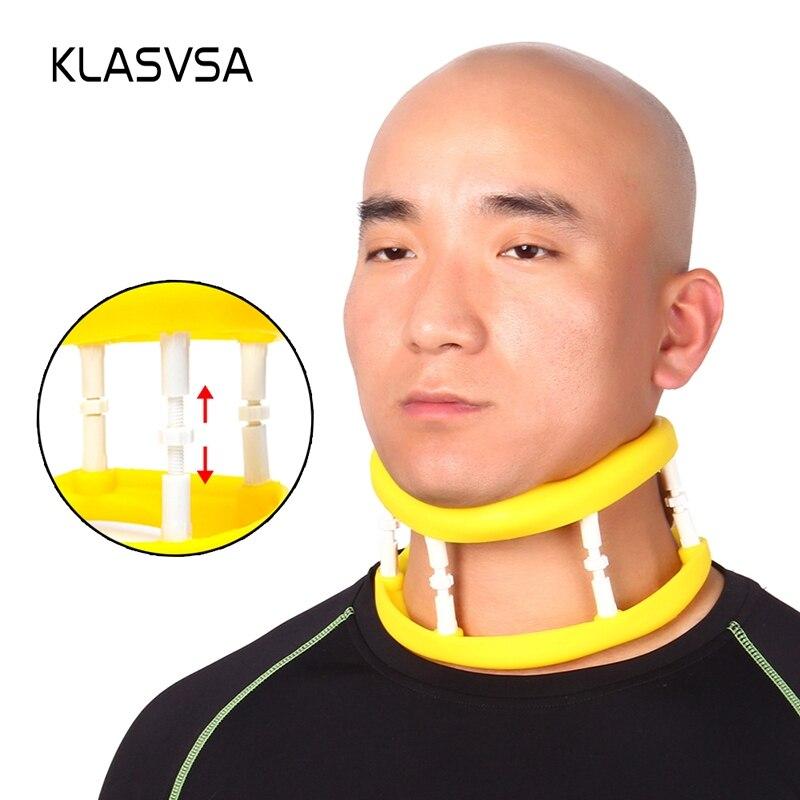 KLASVSA Adjustable Silicone Cervical Traction Frame Neck Massager Vertebrae Stretching Support Corrector Massager relaxation