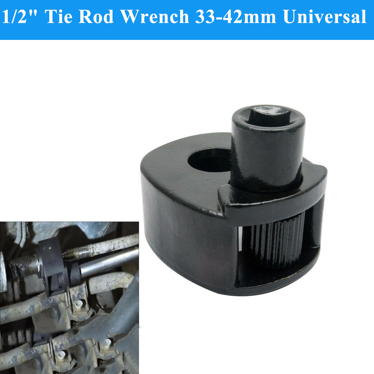 1/2 Inch Tie Rod Wrench 33-42mm Universal Steering Track Rod Removal Garage Tool