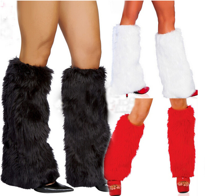 Women Faux Fur Leg Warmers Fluffies Shaggy Boot Shoes Covers Ankle Sleeve Knee Sleeve Winter