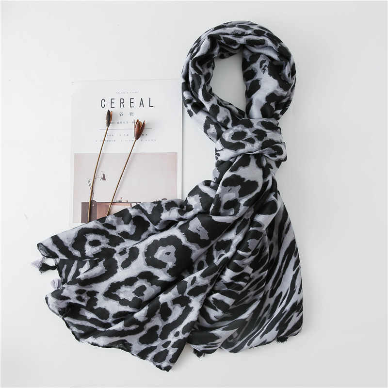 Корейский хлопковый Леопардовый шарф осень-зима европейский и американский ветер Тигр с узором королева шаль двойного назначения женский Wi