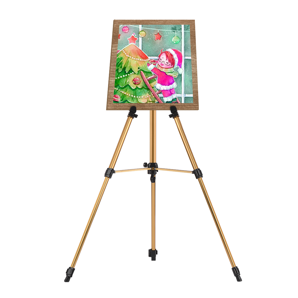 Image 3 - Aluminum Easel Stand Tripod Adjustable Height 19 55 Lightweight Sturdy Field Easel for Painting with Carrying BagEasels   -