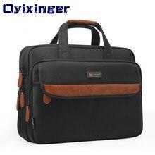 2019 Новая мужская сумка для ноутбука большая емкость PU кожа нейлон Человек ноутбук сумка для компьютера 15,6 «для MACBOOK MATEBOOK Hp lenovo Dell acer