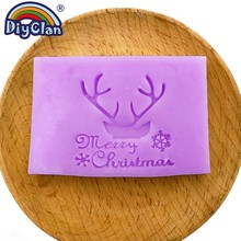 """""""Merry Christmas Handmade soap making stamp Elk horn Natural Clear diy natural organic glass chapter resin chapters"""