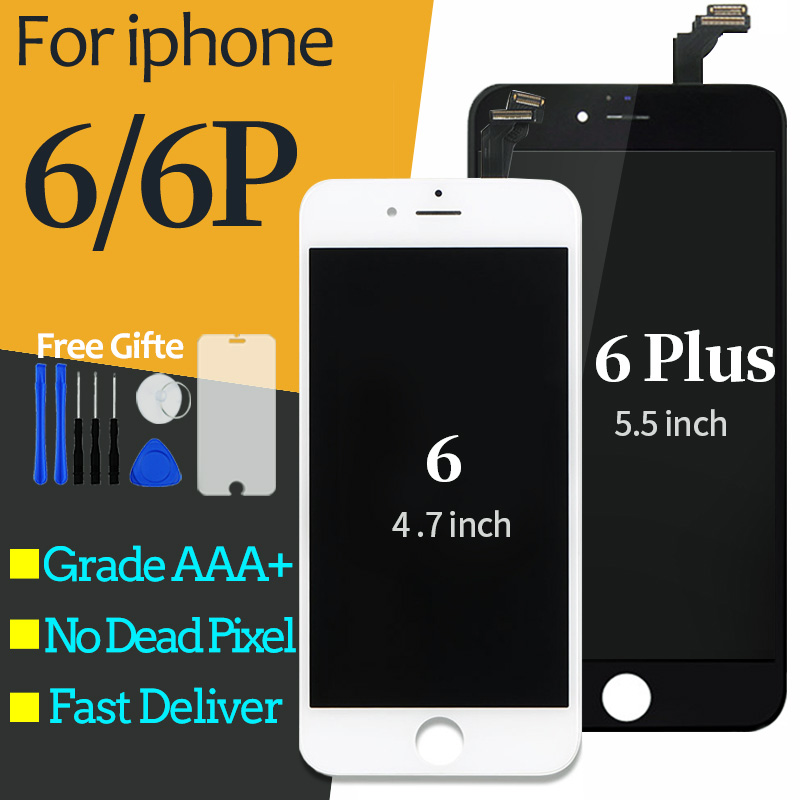For <font><b>iPhone</b></font> <font><b>6</b></font> LCD Display Screen With Touch Digitizer Assembly For <font><b>iphone</b></font> <font><b>6</b></font> Plus LCD Screen 3D Touch <font><b>ecra</b></font> pantalla balck white image