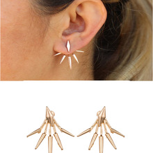 Fashion Vintage Earring Studs Alloy Gold Finger Bars Shape Earring Drop Punk Concise Style Ear Jewelry Accessories 2019 gothic style dragon shape earring