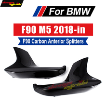 For BMW F90 M5 2PCS Carbon Fiber Front Lip Splitter Flap Cupwings Fit Anterior Splitters Car-Styling 2018+
