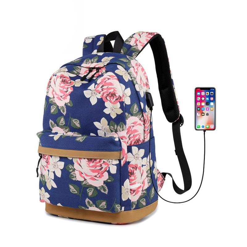 Women Travel Backpack USB Charging Small Fresh School bags Laptop Rucksack Female Student Backpack School Bag for Teenage Girls 2018 student backpack school bags for teenage girls mochila backpack waterproof rucksack student bag travel backpacks new