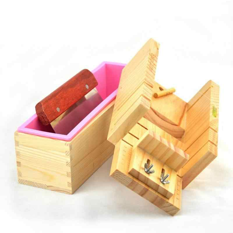 1/3/4pcs Soap Making Tools Adjustable Wooden Soap Cutter Box