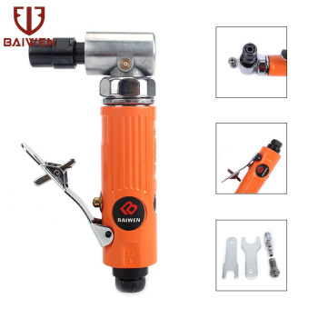 1/4 90 Degree Air Angle Die Grinder Metal Engraving Polishing Machine Engraving Pneumatic Tool With 1/4'' And 1/8'' Clollets