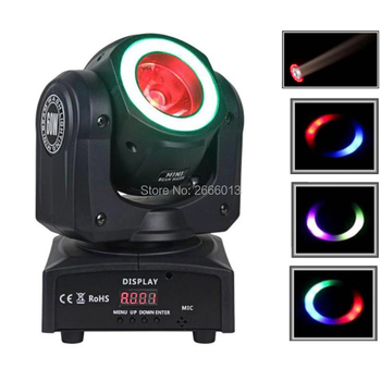 60W RGBW Mini LED Beam Light With RGB LED Light Strip For Disco Bar/LED Beam Moving Head Stage Lights With Halo/DJ Spot Lighting