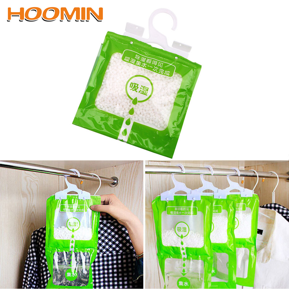 Wardrobe Hanging Moisture Absorbent Bags Anti-Mold Desiccant Packets Closet Cabinet Dehumidifier Bag For Home Kitchen Bathroom