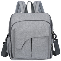 New Baby Bag Maternity Bag For Baby Large Bags For Diapers Backpack For Mom Nappy 2 In 1 Mummy Backpack(Gray)